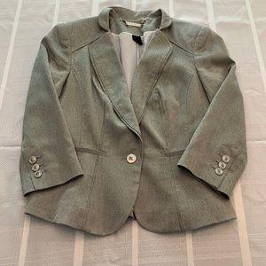 White House Black Market Grey Suit Jacket
